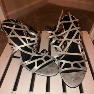 Kenneth Cole Silver Heels